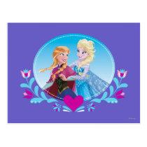 Anna and Elsa | Embracing Postcard