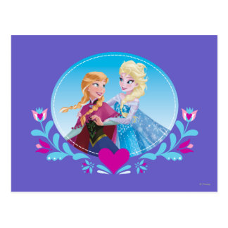 Anna and Elsa   Embracing Postcard