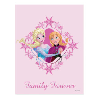 Anna and Elsa | Family Forever Postcard