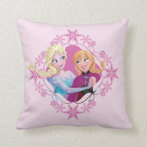 Anna and Elsa | Family Forever Throw Pillow