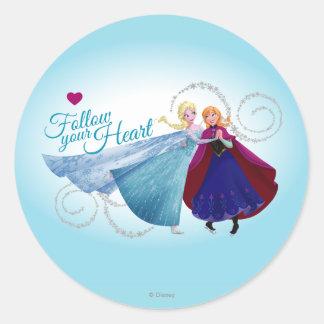 Anna and Elsa   Family Love Classic Round Sticker