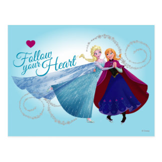 Anna and Elsa | Family Love Postcard