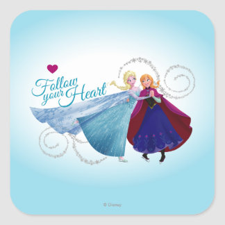 Anna and Elsa   Family Love Square Sticker