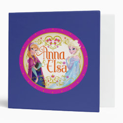 Avery Signature 1' Binder with Anna & Elsa Floral Design design