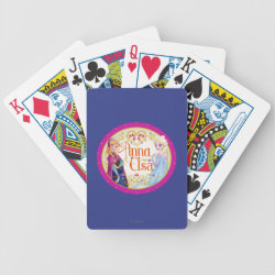 Playing Cards with Anna & Elsa Floral Design design