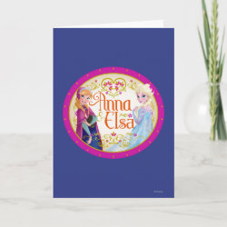 Standard Card with Anna & Elsa Floral Design design