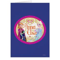 Greeting Card with Anna & Elsa Floral Design design
