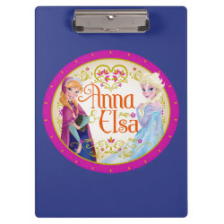 Clipboard with Anna & Elsa Floral Design design