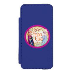 Incipio Watson™ iPhone 5/5s Wallet Case with Anna & Elsa Floral Design design