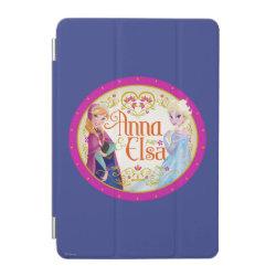iPad mini Cover with Anna & Elsa Floral Design design