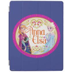 iPad 2/3/4 Cover with Anna & Elsa Floral Design design