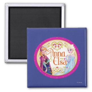 Anna and Elsa | Floral Frame Magnet