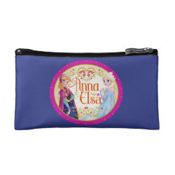 Small Cosmetic Bag with Anna & Elsa Floral Design design