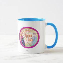 Combo Mug with Anna & Elsa Floral Design design