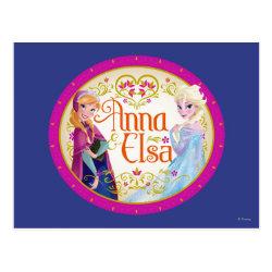 Postcard with Anna & Elsa Floral Design design