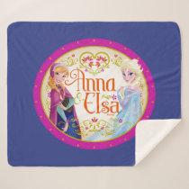 Anna and Elsa | Floral Frame Sherpa Blanket