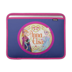 Macbook Air Sleeve with Anna & Elsa Floral Design design