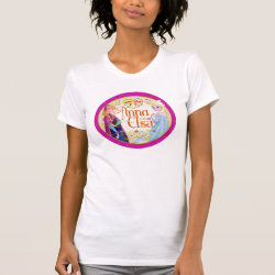 Women's Crew T-Shirt with Anna & Elsa Floral Design design