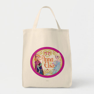 Anna and Elsa | Floral Frame Tote Bag