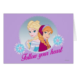 Greeting Card with Follow your Heart design
