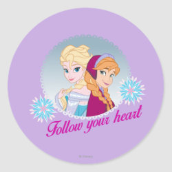 Round Sticker with Follow your Heart design
