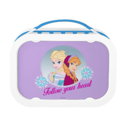 Blue yubo Lunch Box with Follow your Heart design