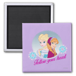 Square Magnet with Follow your Heart design