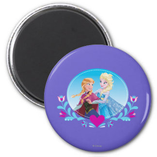 Anna and Elsa - Follow Your Heart Refrigerator Magnet