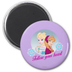 Round Magnet with Follow your Heart design