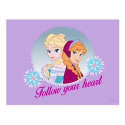 Postcard with Follow your Heart design