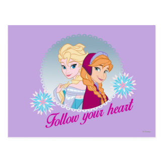 Anna and Elsa | Follow Your Heart Postcard