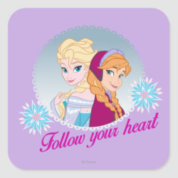 Square Sticker with Follow your Heart design