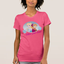 Women's American Apparel Fine Jersey Short Sleeve T-Shirt with Follow your Heart design