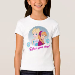 Girls' Bella+Canvas Fitted Babydoll T-Shirt with Follow your Heart design