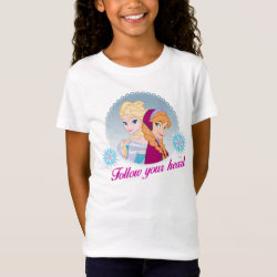 Girls' Fine Jersey T-Shirt with Follow your Heart design
