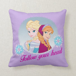Cotton Throw Pillow with Follow your Heart design