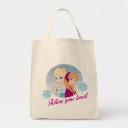 Grocery Tote with Follow your Heart design