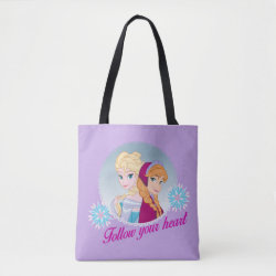 All-Over-Print Tote Bag, Medium with Follow your Heart design