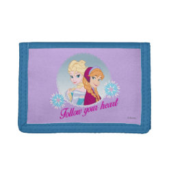 TriFold Nylon Wallet with Follow your Heart design