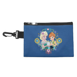 Clip On Accessory Bag with Anna & Elsa Frozen Fever Sister Gift design