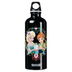 SIGG Traveller Water Bottle (0.6L) with Anna & Elsa Frozen Fever Sister Gift design