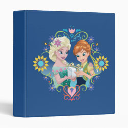 Avery Signature 1' Binder with Anna & Elsa Frozen Fever Sister Gift design