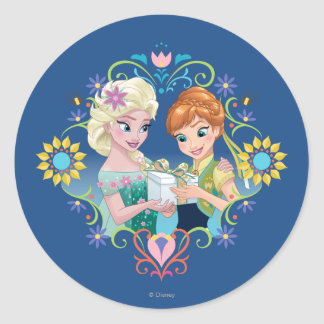Anna and Elsa | Gift for Sister Classic Round Sticker