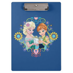 Clipboard with Anna & Elsa Frozen Fever Sister Gift design