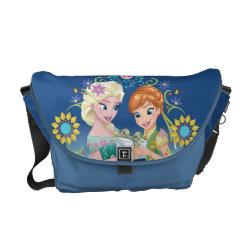 Rickshaw Medium Zero Messenger Bag with Anna & Elsa Frozen Fever Sister Gift design