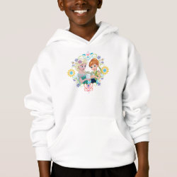 Girls' American Apparel Fine Jersey T-Shirt with Anna & Elsa Frozen Fever Sister Gift design