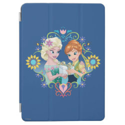 iPad Air Cover with Anna & Elsa Frozen Fever Sister Gift design