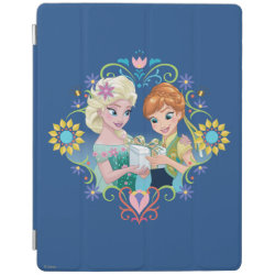 iPad 2/3/4 Cover with Anna & Elsa Frozen Fever Sister Gift design
