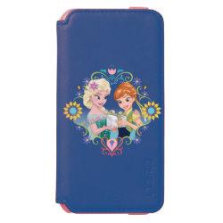 Incipio Watson™ iPhone 6 Wallet Case with Anna & Elsa Frozen Fever Sister Gift design