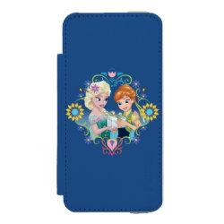 Incipio Watson™ iPhone 5/5s Wallet Case with Anna & Elsa Frozen Fever Sister Gift design